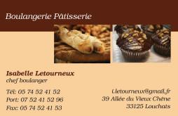 Cartes De Visite Boulangerie Patisserie 1297