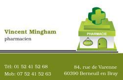 Cartes de visite pharmacie 1167 - 39