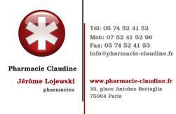 Cartes de visite pharmacie 1170 - 9