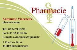 Cartes de visite pharmacie 1175 - 87