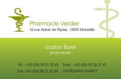 Cartes de visite pharmacie 1176 - 520