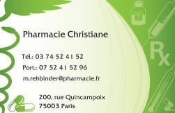 Cartes de visite pharmacie 1177 - 170