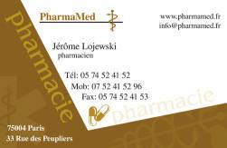 Cartes de visite pharmacie 1178 - 54
