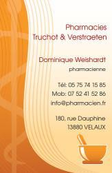 Cartes de visite pharmacie 1179 - 38