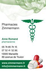 Cartes de visite pharmacie 1180 - 172