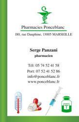 Cartes de visite pharmacie 1181 - 244