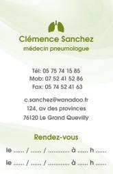 Cartes de visite médecin 1421 - 11