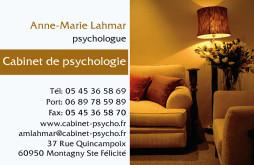 Cartes de visite psychologue 1231 - 61