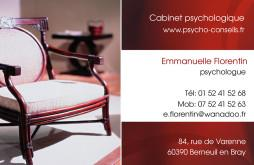 Cartes de visite psychologue 1239 - 68