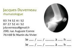 Cartes de visite médecin 1343 - 9