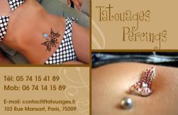 Cartes de visite tatoueur 924 - 22