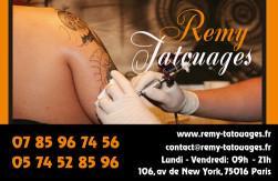 Cartes de visite tatoueur 876 - 62