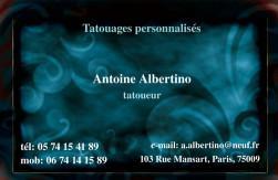 Cartes de visite tatoueur 895 - 41