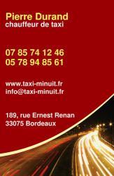 Cartes de visite taxi 684 - 41