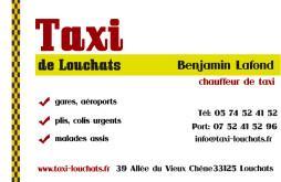 Cartes de visite taxi 1482 - 58