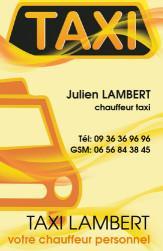 Cartes De Visite Taxi 670