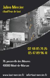 Cartes de visite taxi 687 - 35