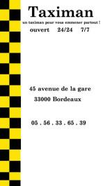 Cartes de visite taxi 137 - 60