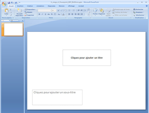 Gabarit De Carte Powerpoint